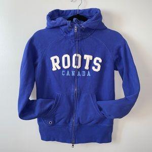 2/$30 Roots purple blue Zip up Hoodie